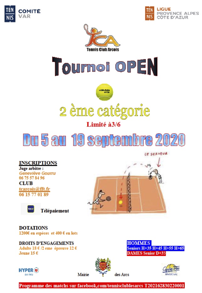 open tennis septembre 2020