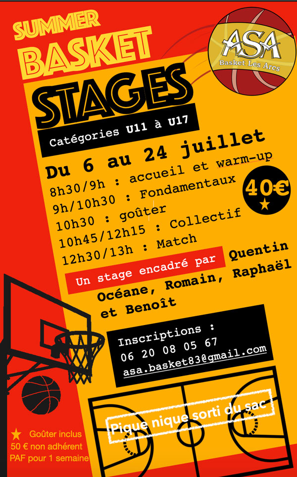 stage ete basket 2020